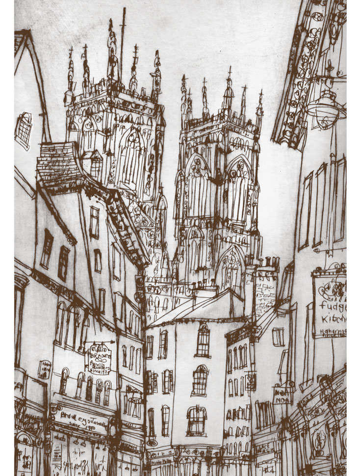 York Minster  Giclee print Image size 29 x 41 cm Edition size 195  £140