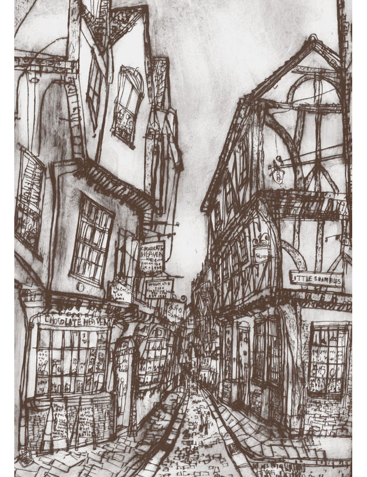 The Shambles York  Giclee print Image size 29 x 41 cm Edition size 195  £145