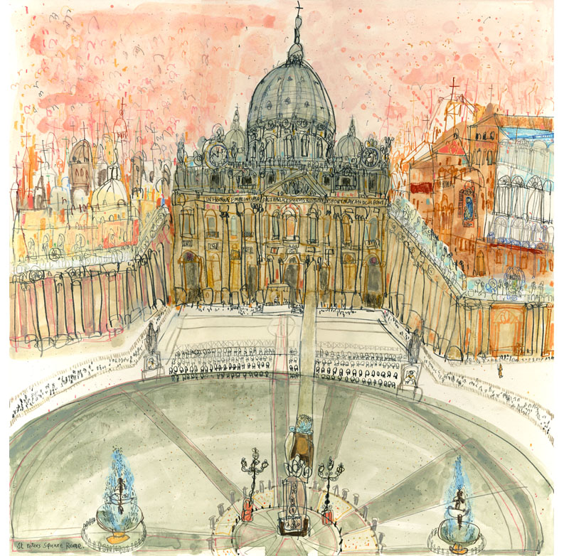 'St. Peter's Square, Rome'  limited edition giclee print 42 x 43 cm Edition size 195 £185