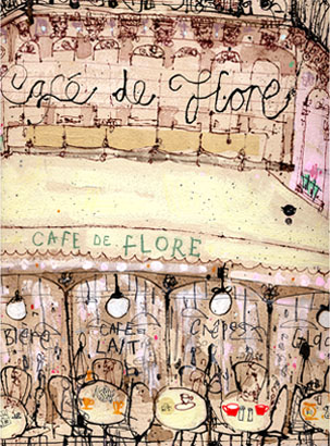 Café De F  lore Paris