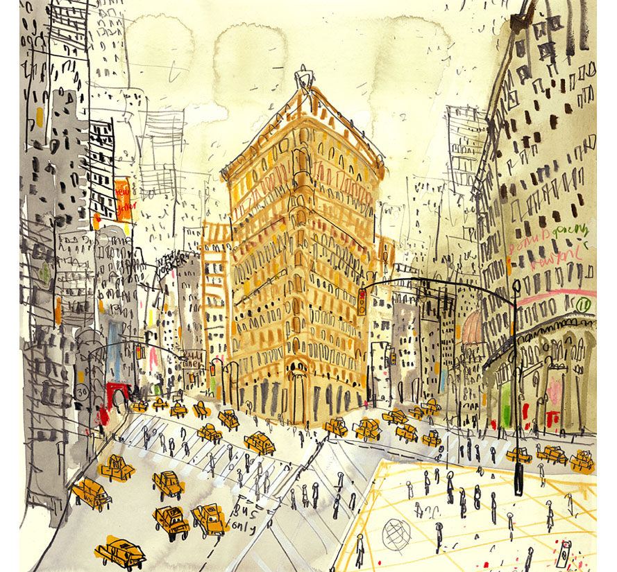 'Flatiron on Fifth Avenue NYC'  Giclee print 30 x 30 cm Edition size 150    £145