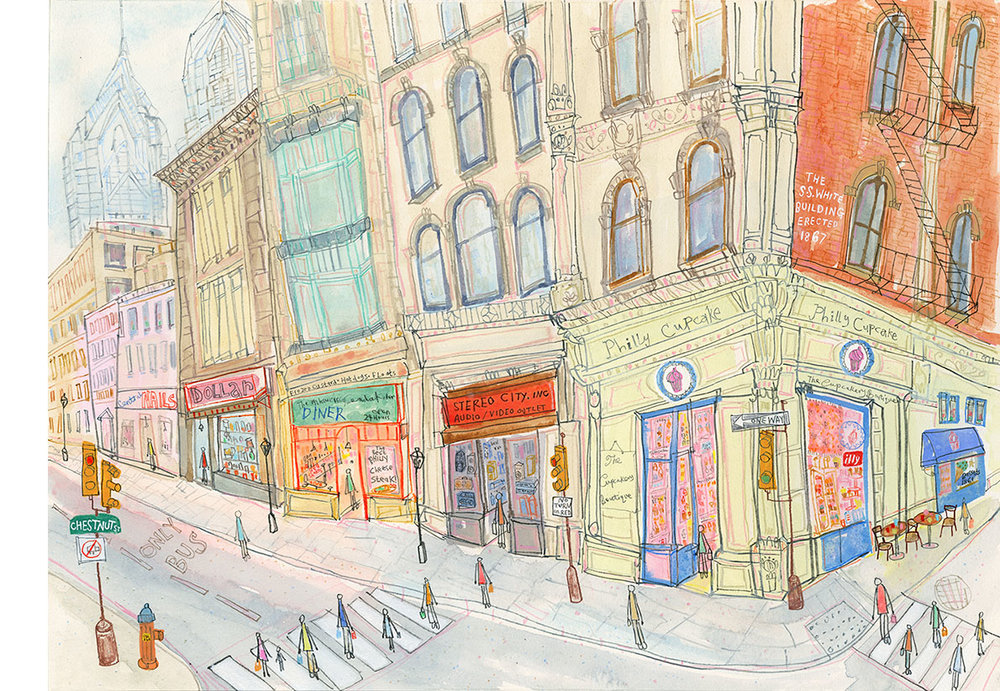 'Philly Cupcakes, Philadelphia'  Giclee print    44 x 32 cm Edition size 195     £140