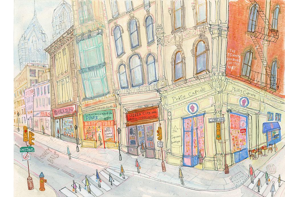 'Philly Cupcakes, Philadelphia'  Giclee print 44 x 32 cm Edition size 195 £148