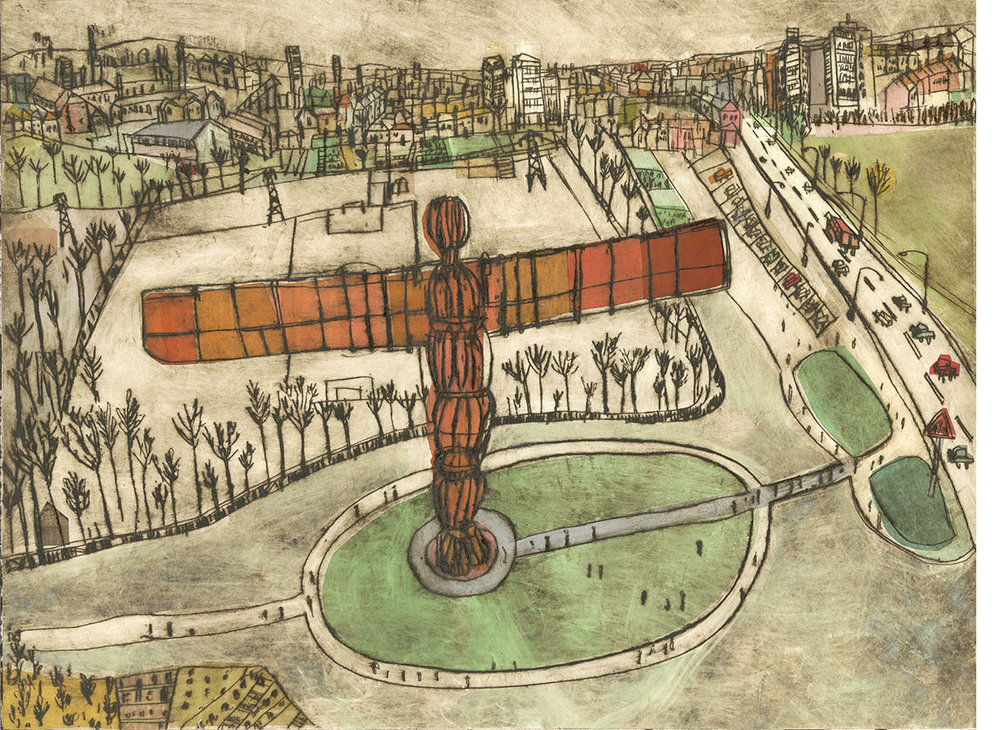 'The Angel of the North, Gateshead'  Limited Edition Giclee print Image Size 40 x 30 cm Edition size 195     £140