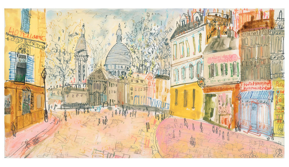 'Hotel Lautrec Paris'  Limited Edition Giclee print Image size 57.5 x 31 cm Edition size 195  £175