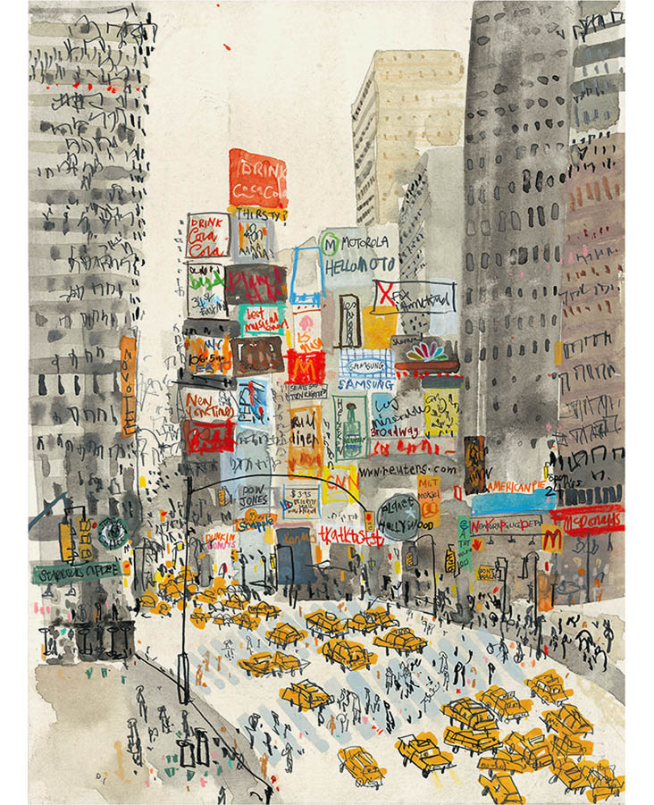 'Times Square New York'  Giclee print 30 x 40.5 cm Edition size 195   £145