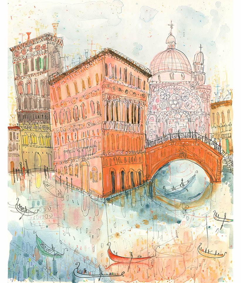 'Rio Dei Miracoli Venice'  Giclee print 29.5 x 37 cm Edition size 195   £140