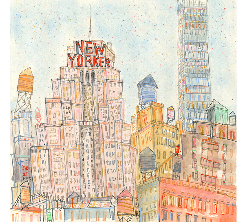 'The New Yorker'  Giclee print  32.5 x 32 cm Edition size 195   £140