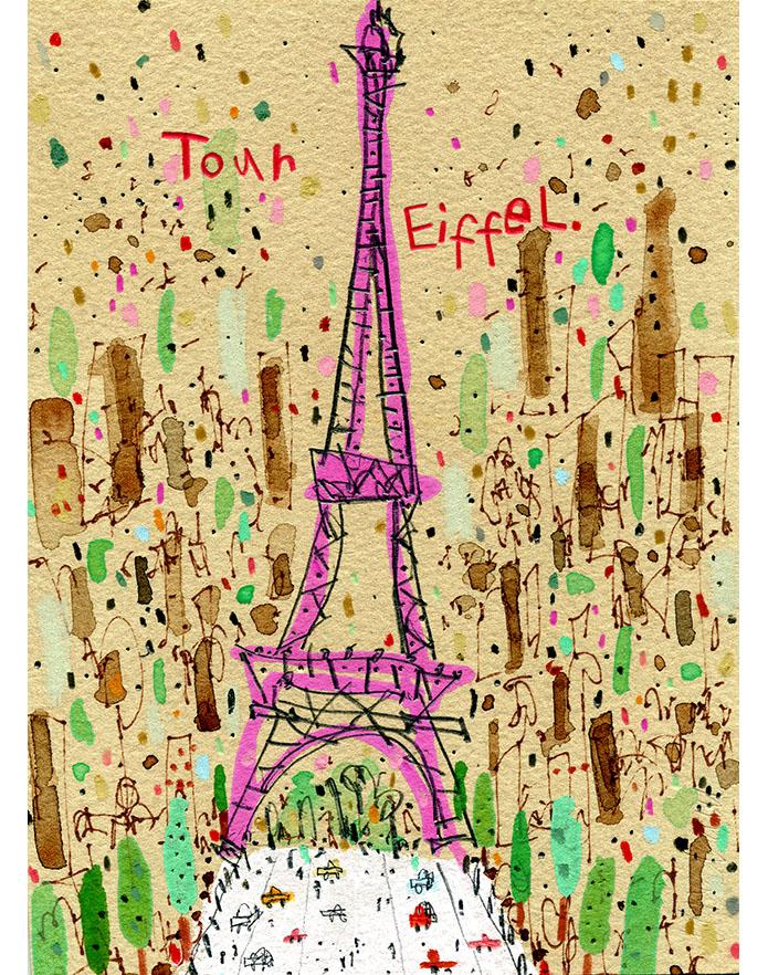 'Eiffel Tower Paris'  Giclee print 29.5 x 40.5 cm Edition size 195   £145