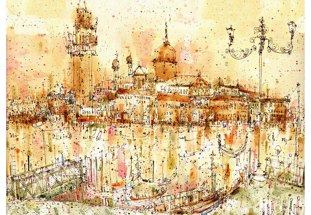 'San Giorgio Maggiore Venice'  Giclee print 50 x 36 cm Edition size 195  £175