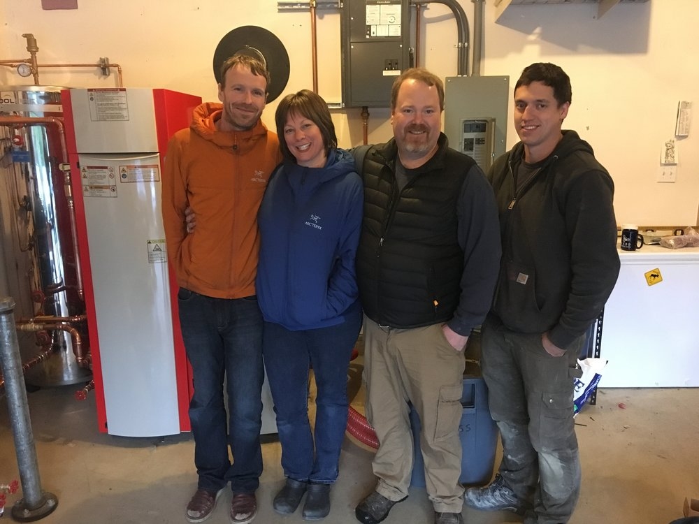 The Higdons had local contractors install their new pellet boiler last winter. They chose pellets to get off of oil and onto a renewable - and hopefully one day, a local - energy.