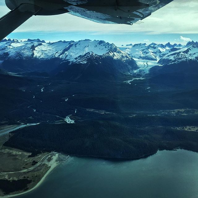 Beautiful views from #alaskaseaplanes on our way to Haines, Alaska for a #biomassboiler #communityenergy project kickoff.