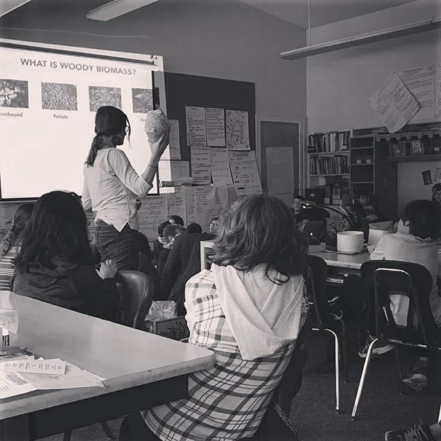 It's never too soon to start learning about #renewableenergy! We were invited to talk to 5th graders at Bolton Primary School about #biomassenergy as part of their term-long class project. Our big idea: modern wood energy is a valuable form of #communityenergy and #energyindependence when it's #biomassdoneright!