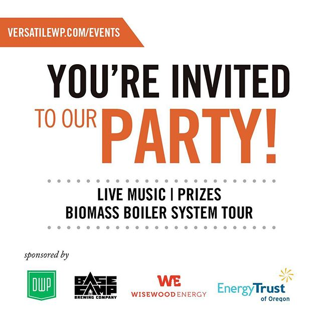 We're excited to announce that our friends at Versatile Wood Products will be having an open house on next Thursday, April 19th. They're going to have live music, beer from #BasecampBrewing , prizes, and coolest of all... a tour of their biomass boiler designed by Wisewood! (Maybe we're a little bit biased) Don't miss out! RSVP on their Facebook page