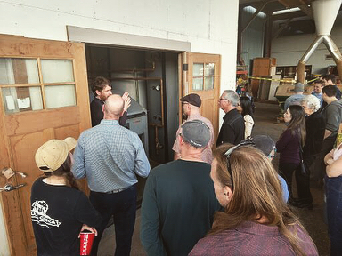 We had a great time last night checking out the installation of a cordwood #biomassboiler that we designed for @versatile.wp Thank you to the folks at Versatile Wood Products for putting on a fun event to showcase the awesome custom woodwork they do and the thermal energy they create from the scraps! #BiomassDoneRight