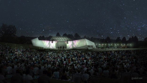 A rendering of the Levitt Pavilion Denver (credit: Chris Zacher)