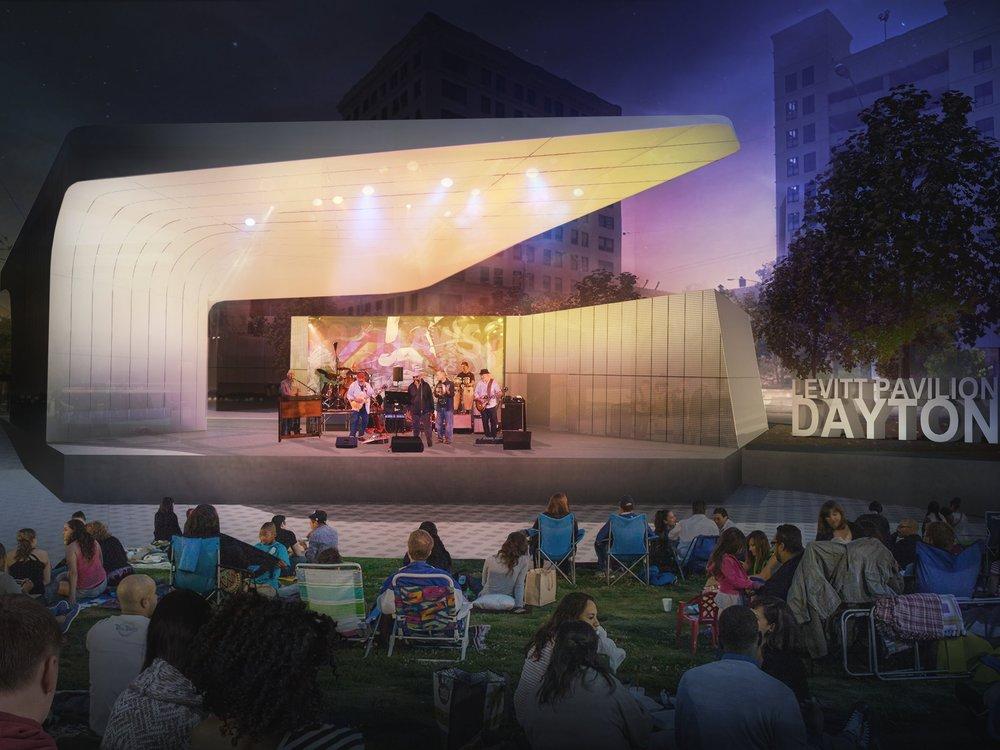 Levitt Pavilion, Dayton, Ohio - Opening 2018  levittdayton.org