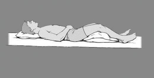 decrease back hip ache when dozing