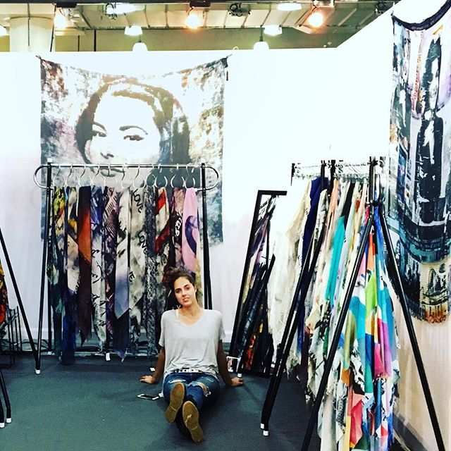 #NewYork ready for the @NY_NOW show. If you're here be sure to drop in! Booth 8177 - Javits Ceter - Level 1 #fashion #scarves #SUZIROHER