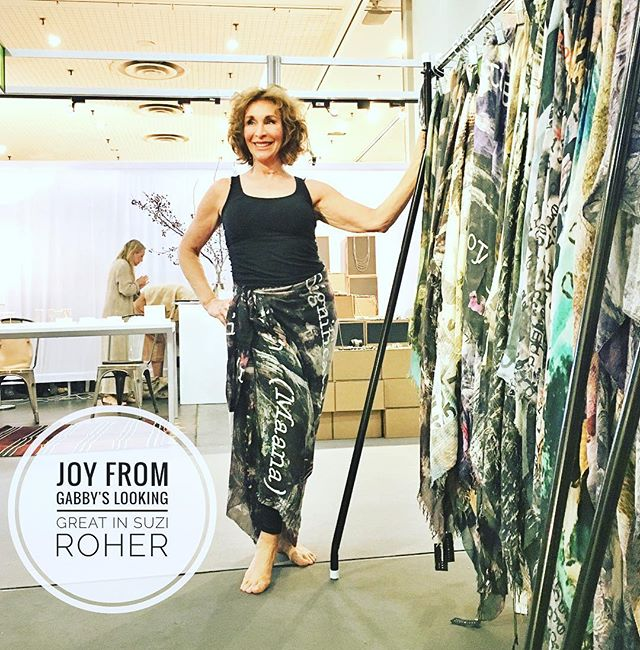 "@NY_NOW Gabby's Joy Minden is modelling the new #SUZIROHER SS17 ""pareo"" If you're in the neighbourhood- Booth 8177"