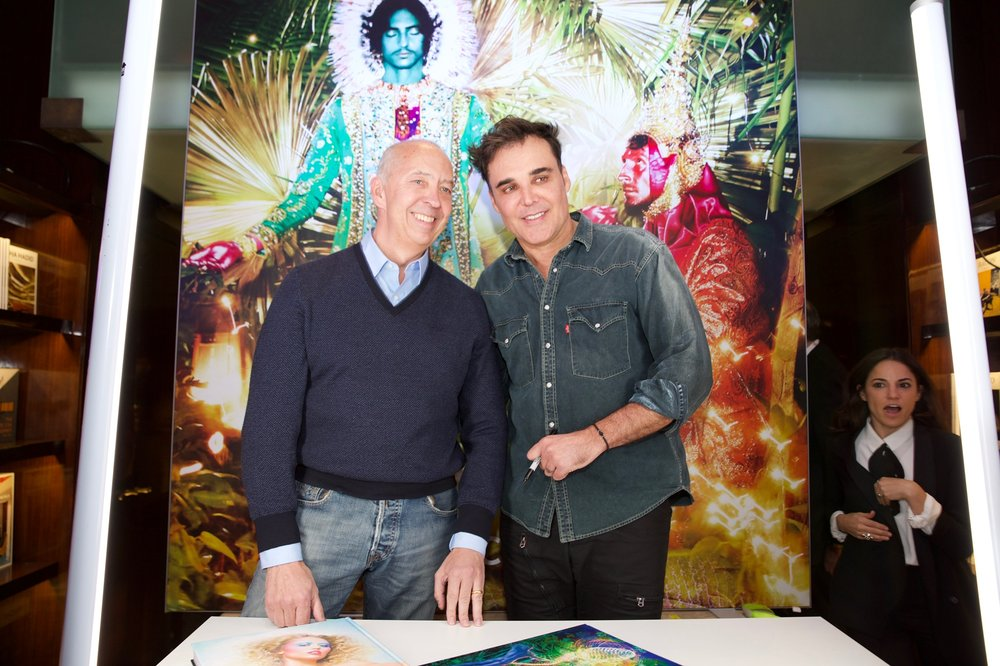 Benedikt Taschen and David LaChapelle (with a camoe by me on the far left)
