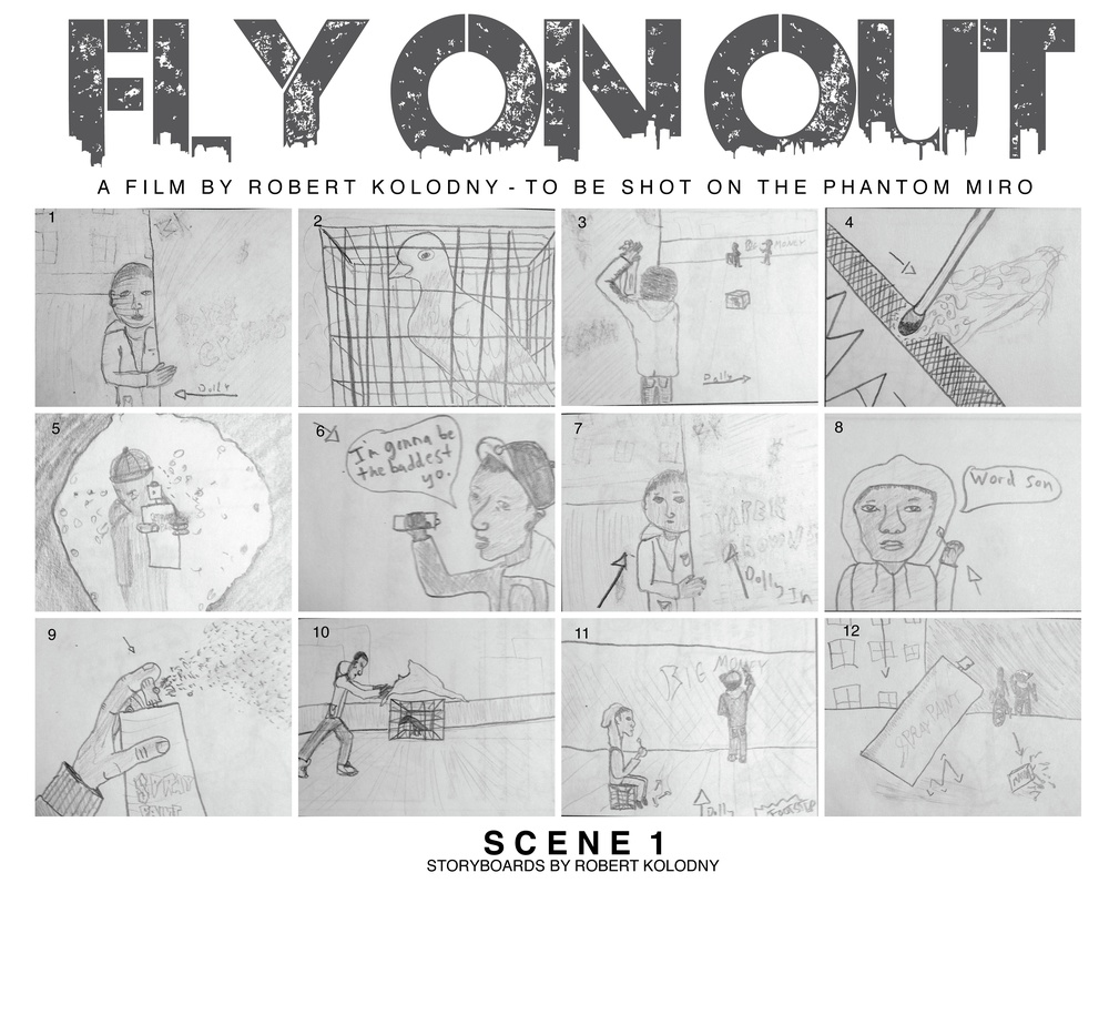Fly on Out Scene 1 Story Board by Robert Kolodny ©copyright house of nod.jpeg