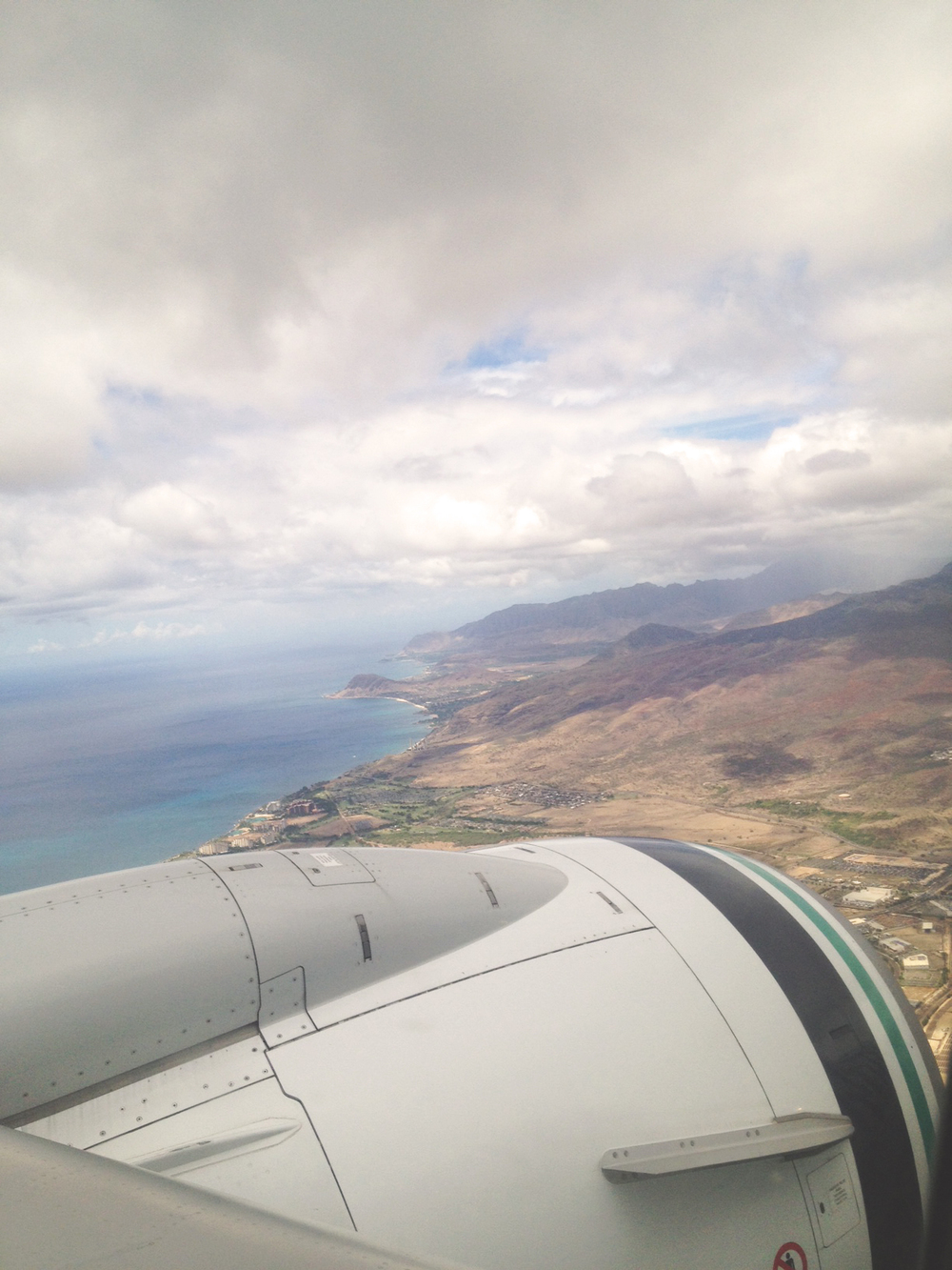 View of Oahu on the West Side of the island