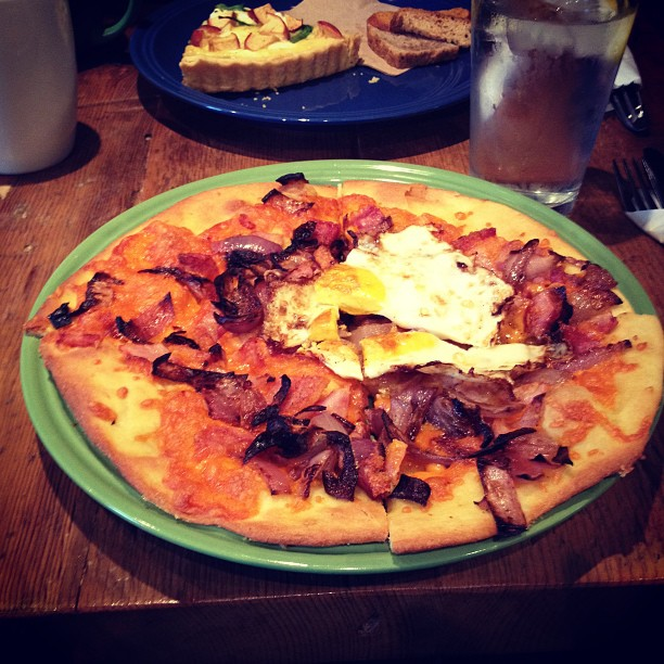 Breakfast Pizza from Timeless Cafe.
