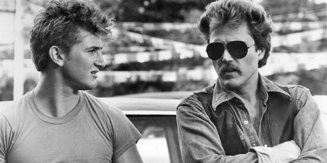 "Sean Penn and Christopher Walken in James Foley's 1986 flim, ""At Close Range"""