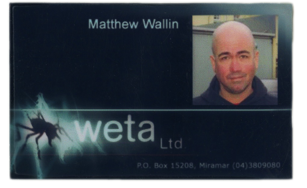 My old Weta Digital ID