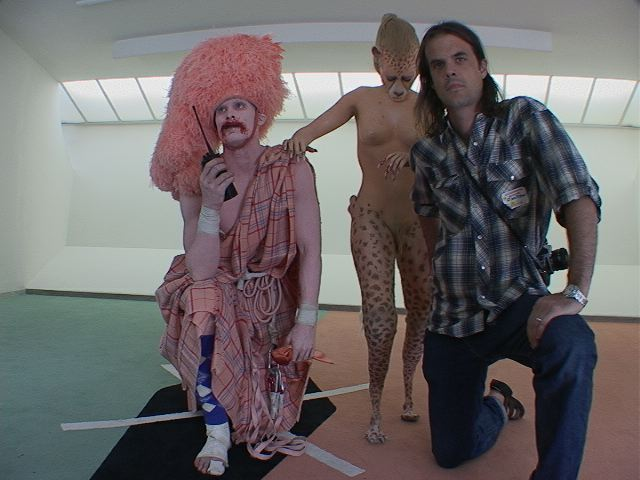 Still photo I took from the set of Cremaster 3 shoot in the Guggenheim.
