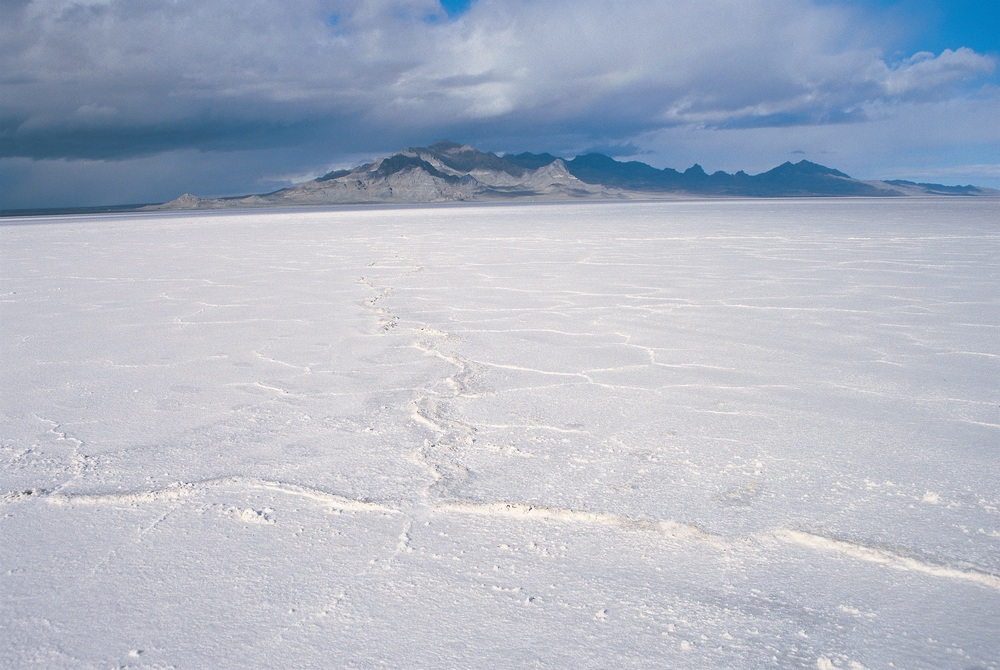 Photo from the Bonneville Salt Flats in Wendover, Utah. We shot on location for Cremaster 2.