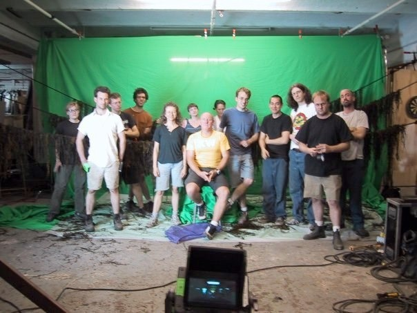 Me with the on set visual effects crew of Cremaster 2.