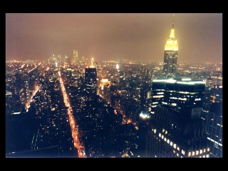 A photo I snapped during location scouting in the Chrysler Building spire. Note the WTC in the distance. This was either 1999 or 2000.