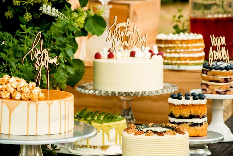 MAMIE BOUDE toppercake caketopper sur-mesure en bois pour décoration gâteaux mariage
