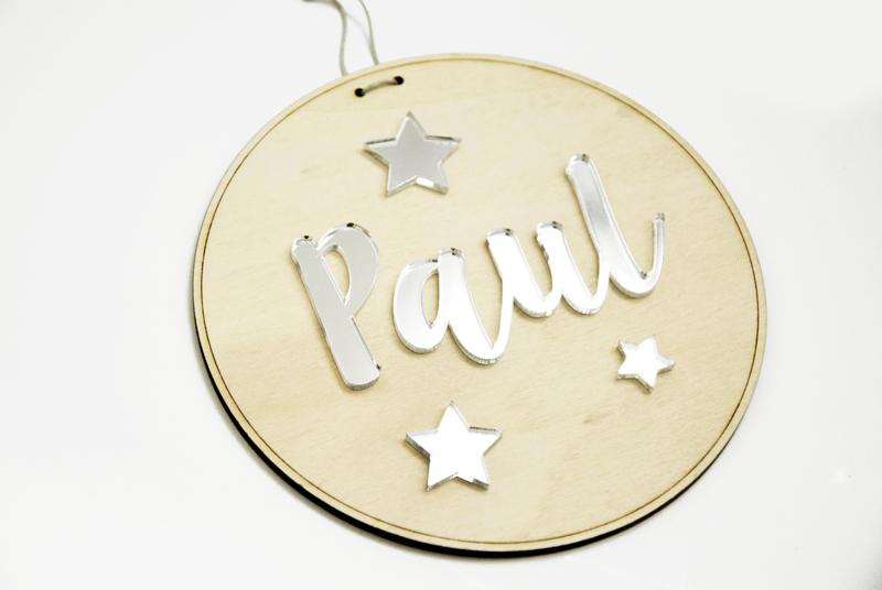 Plaque personnalisable prénom enfant - pancarte panneau bébé baby - cadeau naissance - chambre  personnalisable texte mot