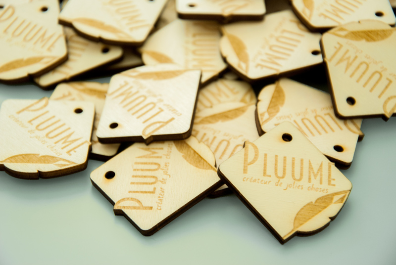 étiquette - etiquette - tag - tags - pampille - logo - bois - découpé - gravé - sur-mesure