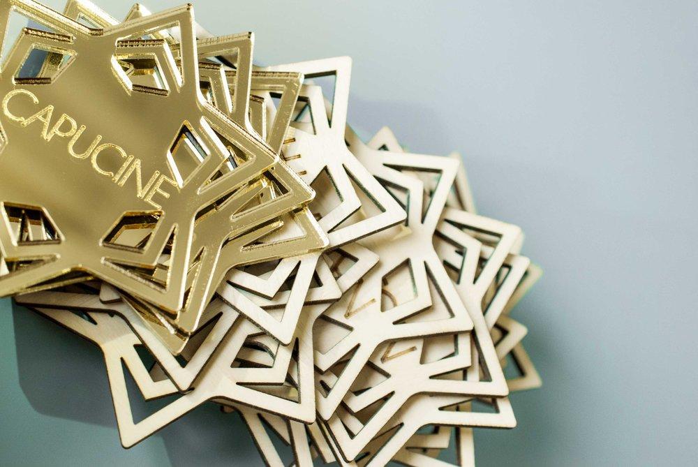 Etoiles de noël personnalisable en bois