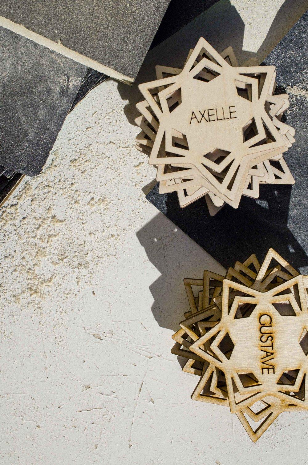 Etoile prenom en bois