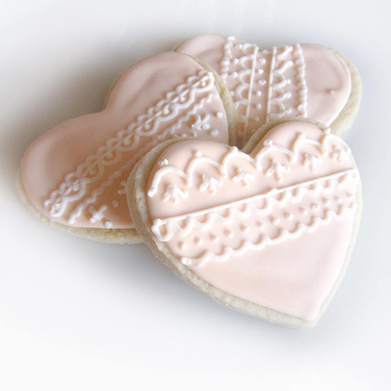 Valentine's Lace Heart Cookies by ThePieceDeResistance