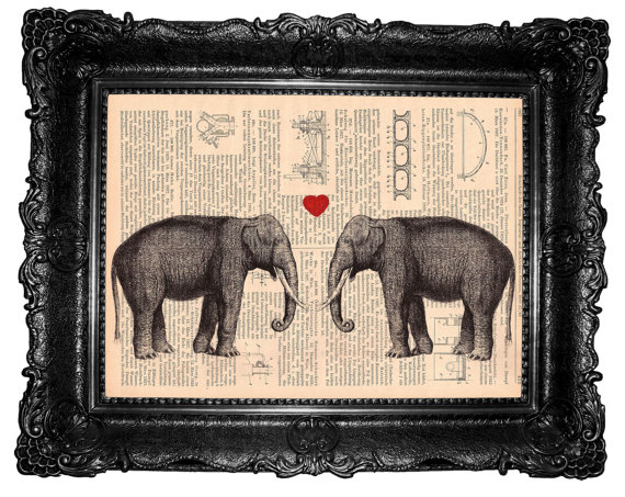 Elephants Love Print by ArtElem