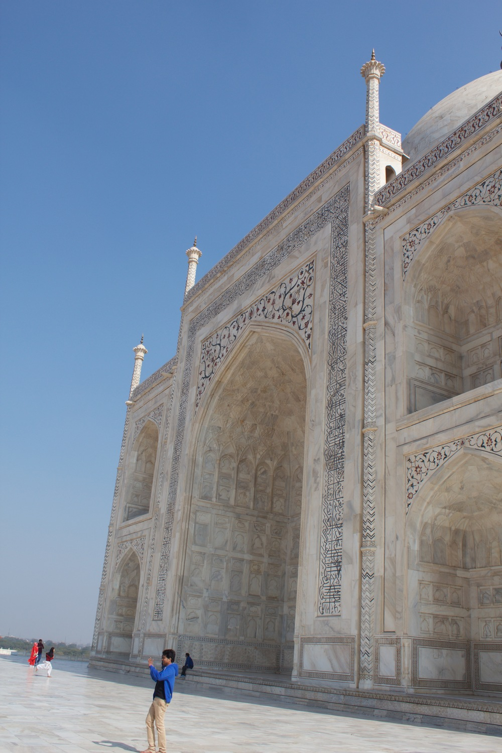 back side of the Taj Mahal