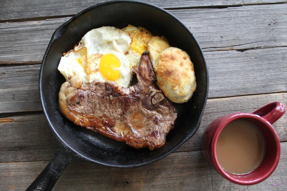 Ky Darling t- bone Steak and Eggs!