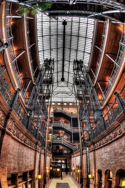 bradbury building ~ http://www.flickr.com/photos/mikechen-metalman/4397152445/in/photostream/