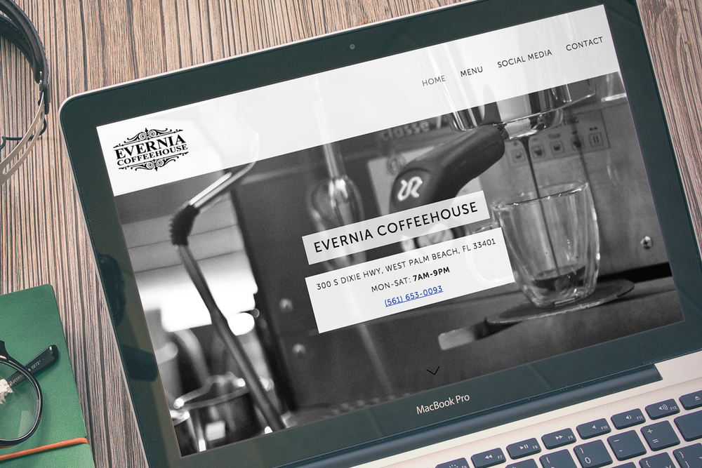 Evernia-Coffeehouse-Website