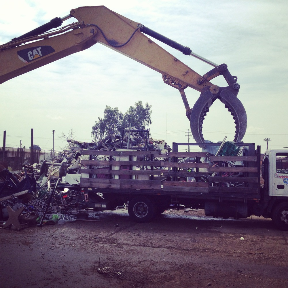 Recycling 1.5 tons of metal!