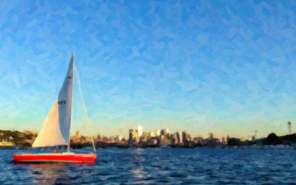 Lake Union Sailboat