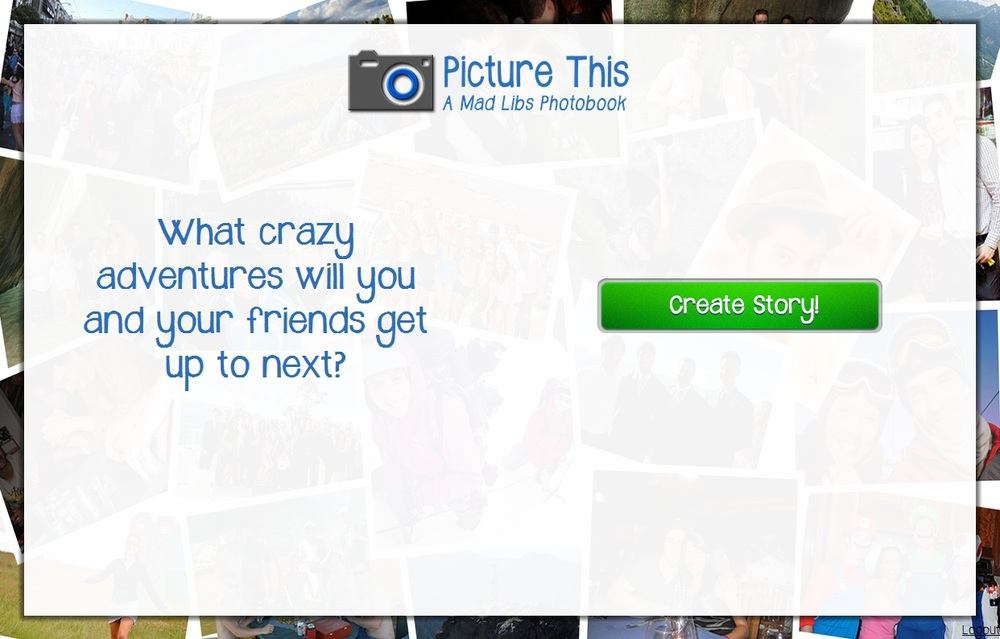 The PictureThis landing page
