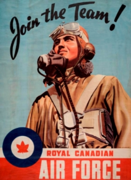 Join the Team!  Artist: Ted Harris Recruitment poster for the RCAF, 1939-45