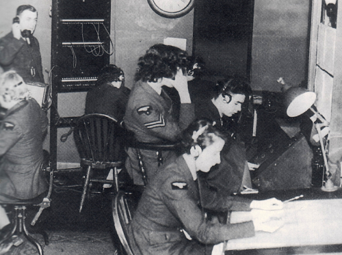 Operators are standing by... RDF (RAF) operators, c. 1940.